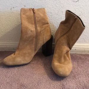 Brown Suede Jeffrey Campbell Boots